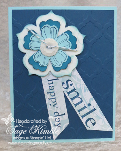 Handmade Card made with Flower Shop Bundle from Stamping Madly
