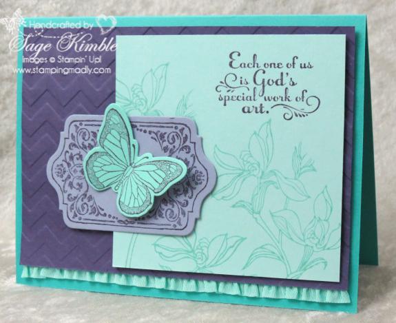Handmade Card with Backyard Basics, Chalk Talk, and yummy colors!