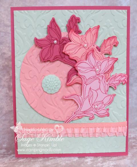 Backyard Basics and Beautifully Baroque handmade card from Stamping Madly