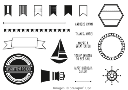 Click here to order Settin' Sail photopolymer stamp set from my Online Stampin' Up! Store