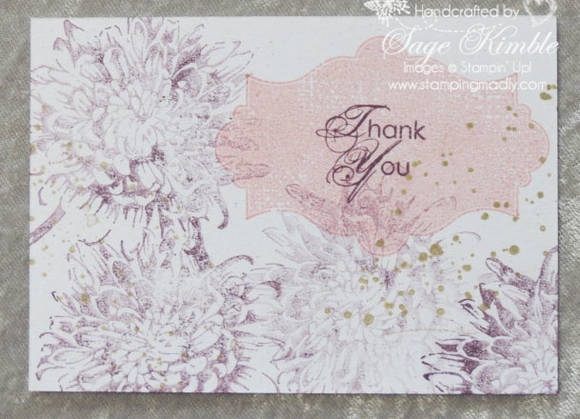 Handmade Postcard with Blooming with Kindness stamp set from Stamping Madly