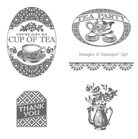 Click here to order the Tea Party stamp set from Stampin' Up!