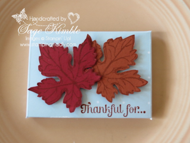 Thanksgiving Favor from Stamping Madly