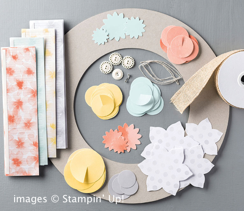 Click here to order the Burlap and Blooms Wreath Kit from Stampin' Up!