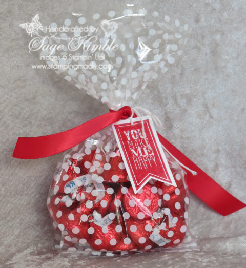 Twisty Treat Bag for Valentine's Day from Stampin' Madly