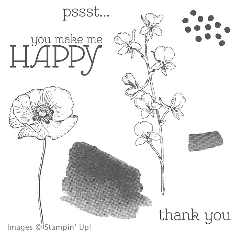 Happy Watercolor Stamp Set from Stampin' Up!