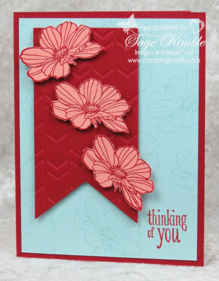 Peaceful Petals - Simple version for Mad Stampers Club