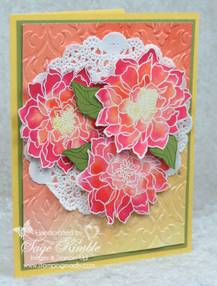 Peaceful Petals - Stepped up card for Mad Stampers Club
