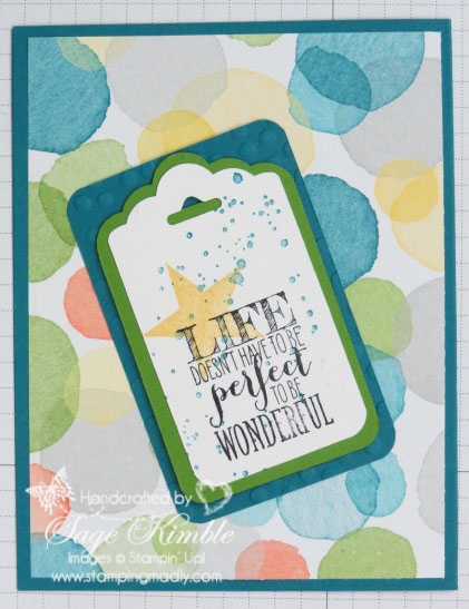 Watercolor Wonder DSP with tag and mat