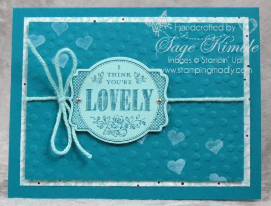 You're Lovely handmade card using FREE Sale-a-Bration merchandise from Stampin' Up!