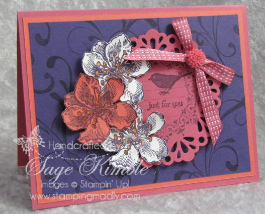 Everything Eleanor  card with Flourish background from Stamping Madly