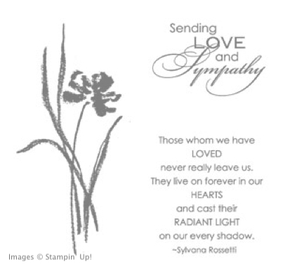 Click here to order Love & Sympathy stamp set from Stampin' Up!