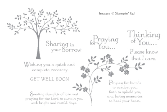 Click here to order Thoughts and Prayers from Stampin' Up!