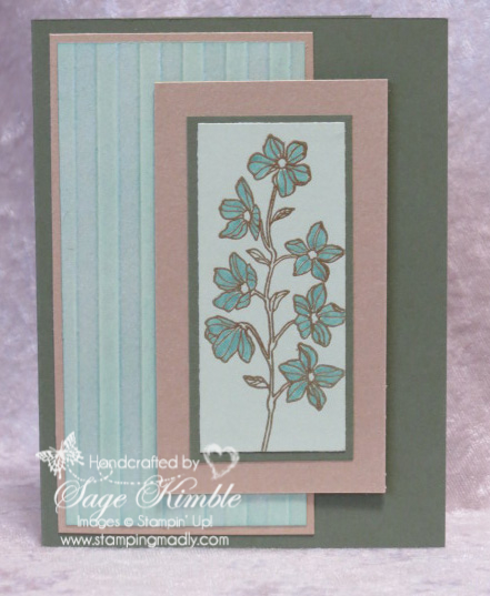 Peaceful Petals simple spring card for Mad Stampers Club