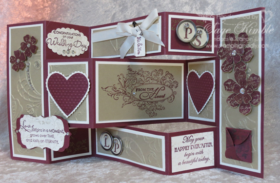 Feeling guilty about that neglected scrapbook stamping madly trifold shutter wedding card m4hsunfo