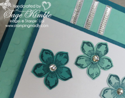 Petite Petals Card for Stamping Madly Newsletter Subscribers
