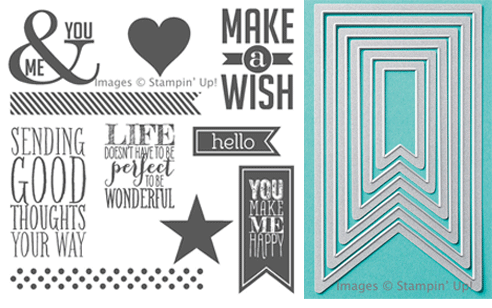 Click here to order Perfect Pennants clear mount stamp set and Banners Framelits Bundle from Stampin' Up!