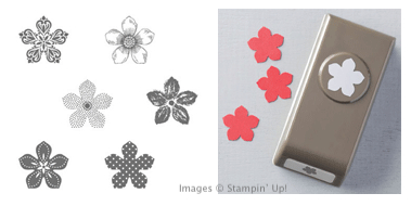 Click here to order Petite Petals clear mount stamp set and Petite Petals Punch from Stampin' Up!