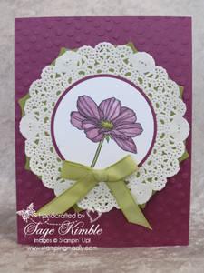 Secret Garden flower colored with Blendabilities