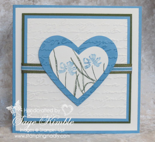 Wedding Card from Stamping Madly, made with Love & Sympathy stamp set