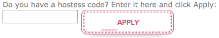 Hostess Code Box for Online Stampin' Up! orders