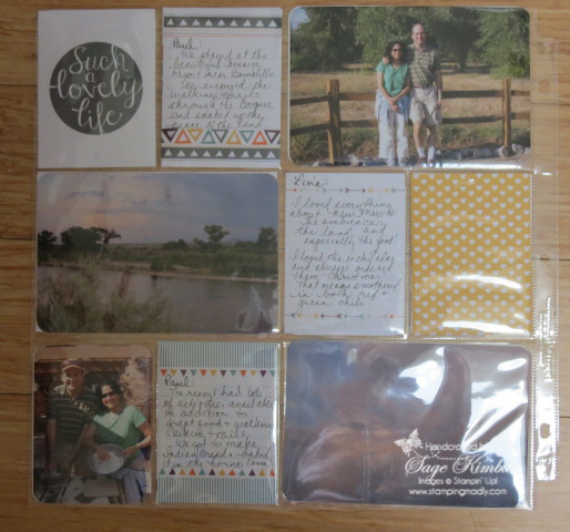 Going Home scrapbook page with Project Life Happiness Is Card Collection
