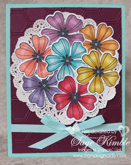 Flower Shop Bouquet Card from Stamping Madly