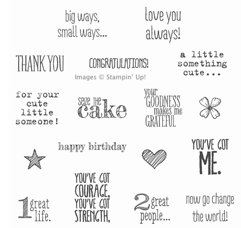 Click here to order the Something to Say Stamp Set from Stampin' Up!