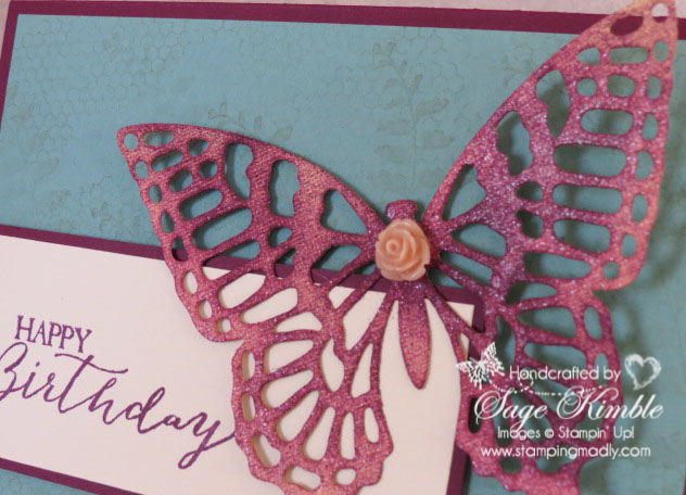 Butterfly Basics stamp set makes great backgrounds!