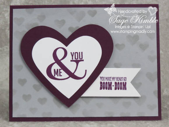 Boom-Boom Valentine Card from Stamping Madly