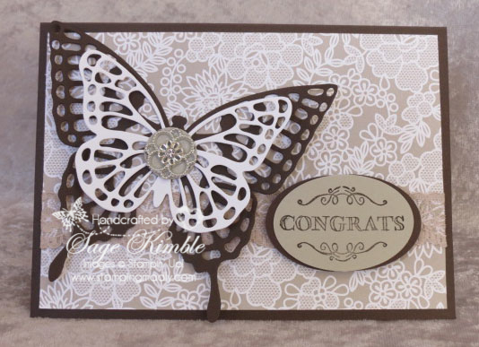 Something Borrowed Handmade Wedding Card from Stamping Madly