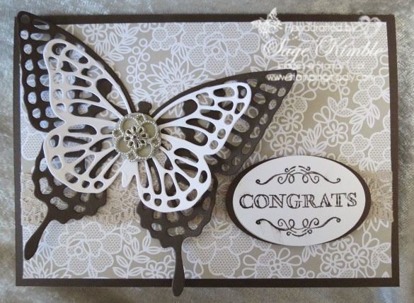 Something Borrowed Handmade Wedding Card | Stamping Madly