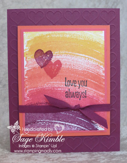 Work of Art handmade Valentine Card from Stamping Madly