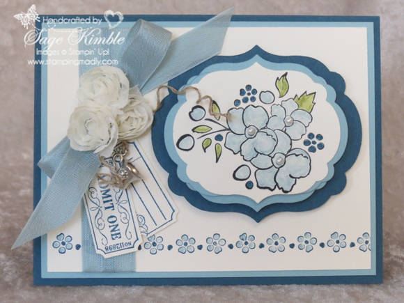 Bordering on Romance handmade all occasions card