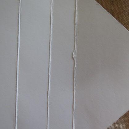 Whisper White card stock scored on the Envelope Punch Board