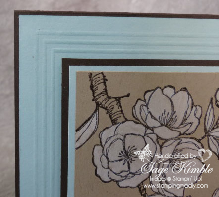 Video tutorial on creating a Scored Frame Background from Stamping Madly