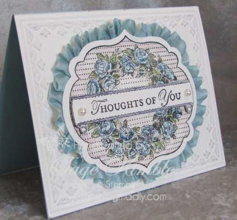 Watercolored Apothecary Art cut with Labels Framelits from Stampin' Madly