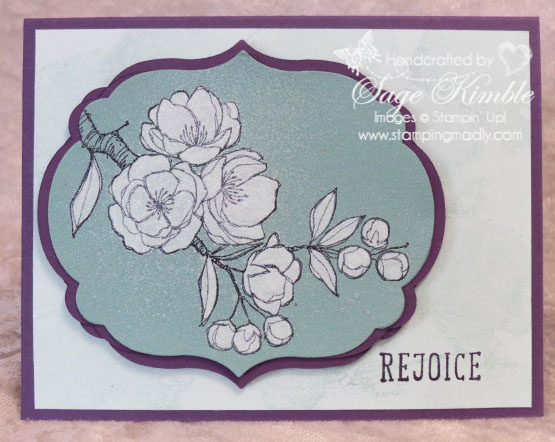 Handmade Easter Card with Indescribable Gift colored with Whisper White Craft Ink