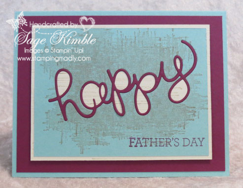 Handmade Father's Day Card from Stamping Madly