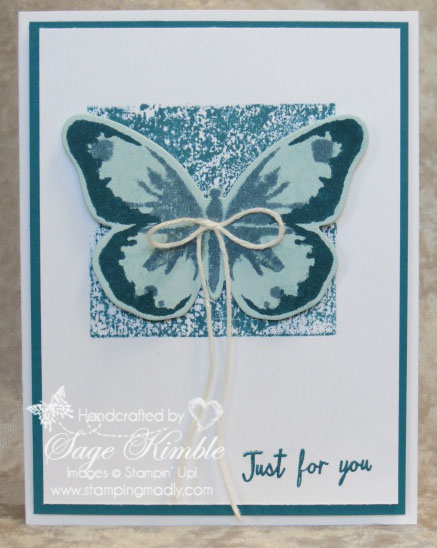 Handmade all-occasions card made with Watercolor Wings Stamp Set and Bold Butterfly Framelits from Stampin' Up!