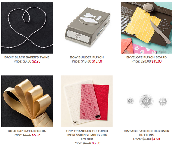 Save 25% on Stampin' Up! Weekly Deals