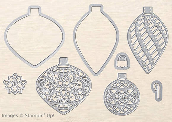 Delicate Ornaments Thinlits from Stampin' Up!