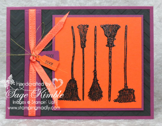 Handmade Halloween Birthday Card from Stamping Madly