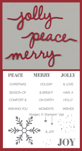 Holly Jolly Greetings & Christmas Greetings Thinlits Bundle from Stampin' Up!