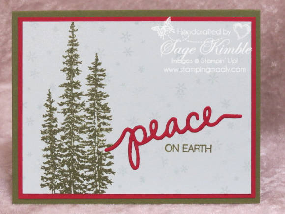 Handmade Christmas Card from Stamping Madly uses Winter Wonderland and the Holly Jolly Greetings Bundle