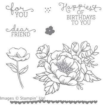 Birthday Blooms stamp set from Stampin' Up!