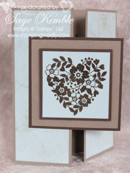 Handmade masculine valentine from Stamping Madly using the Bloomin' Love stamp set from Stampin' Up!