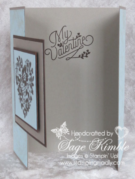 Handmade Valentine for a guy using the Bloomin' Love stamp set from Stampin' Up!