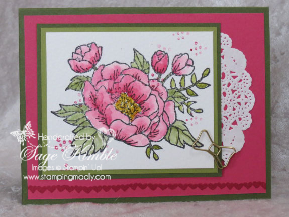 handmade birthday card from Stamping Madly, using Birthday Blooms stamp set from Stampin' Up!