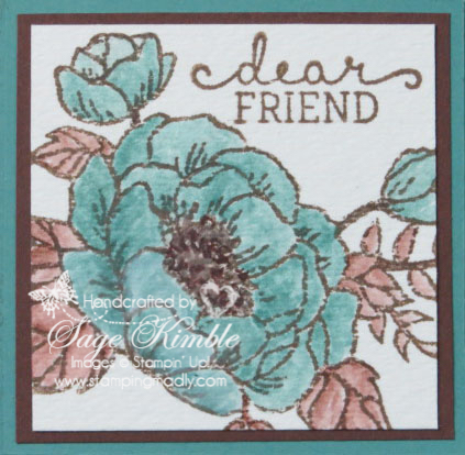 Cropped image from Birthday Blooms stamp set on Corner Fold card from Stamping Madly
